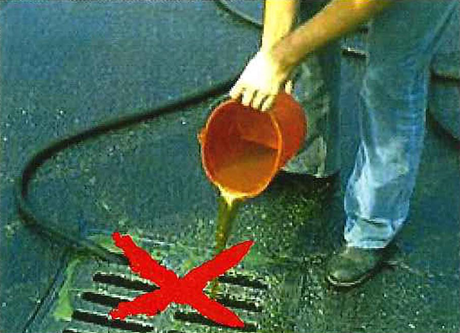 Street Drains are not for Dumping
